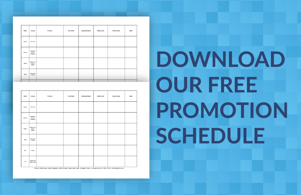 Small Business Marketing Malvern Promtion Schedule