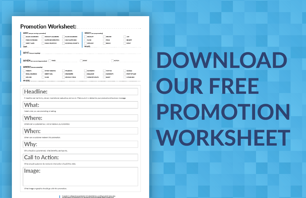 Small Business Marketing Malvern Promtion Worksheet